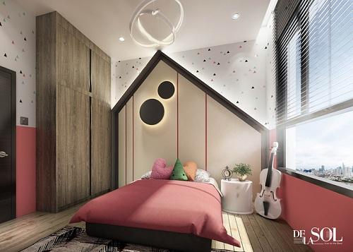 Hình ảnh phối cảnh một góc thiết bên trong căn hộ