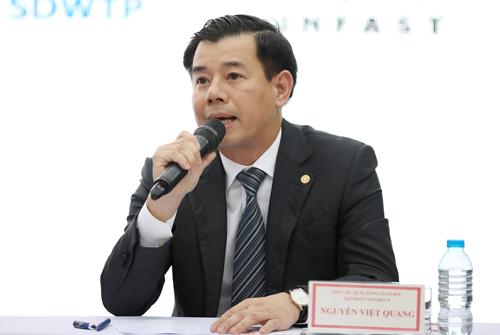 Ông Nguyễn Việt Quang - Tổng giám đốc Tập đoàn Vingroup.