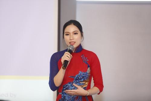 Bà Đoàn Kiều My - Đại diện EUBC HUB tại Việt Nam tại buổi công bố