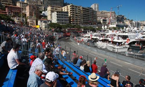 Khán đài trong chặng đua F1 tại Monaco. Ảnh: Formula1