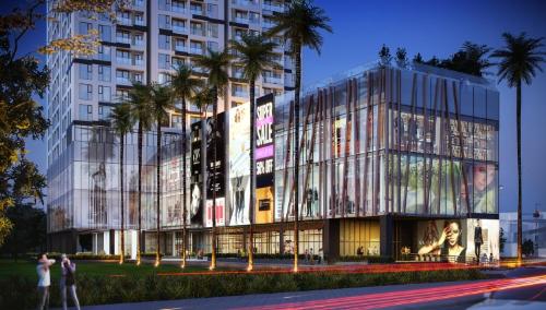 Ascent Plaza mang đậm dấu ấn kiến trúc Nhật.