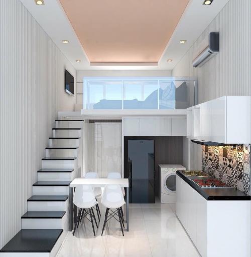 Nhà cho thuê dài hạn được được trang bị nội thất và các tiện ích hiện đại.