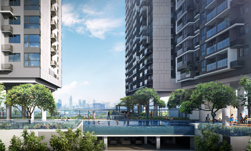 8.000m2 diện tích tầng 3 được ưu tiên để phát triển các tiện ích nội khu.