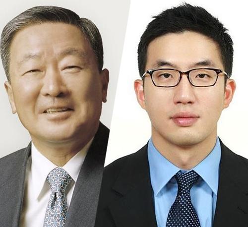 Cố Chủ tịch LG - Koo Bon-moo (trái) và Koo Kwang-mo. Ảnh: Korea Herald