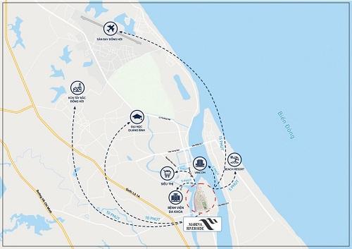 Dự án có vị trí đón đầu cửa ngõ vào TP Đồng Hới bằng đường biển.