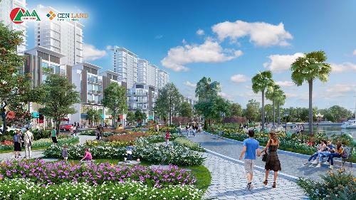 Phối cảnh Khai Sơn Town với nhiều mảng xanh ngay tại dự án.