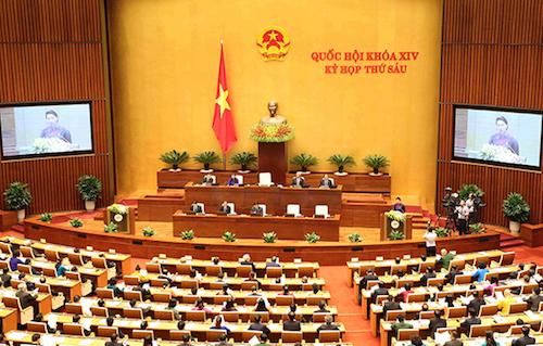 Kỳ họp thứ 6 Quốc hội khoá 14. Ảnh: Hoàng Phong