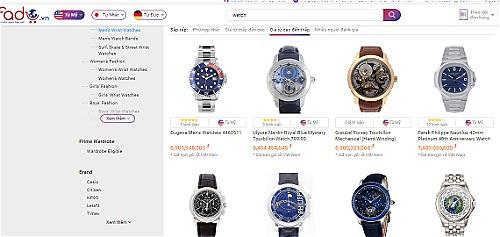 Dữ liệu sản phẩm đồng hồ của Fado đồng bộ trực tiếp từ