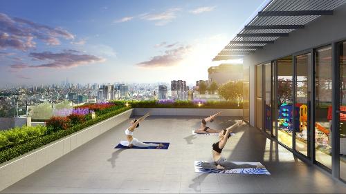 Dự án cao cấp xây dựng sân tập yoga trên nóc tòa nhà - 1