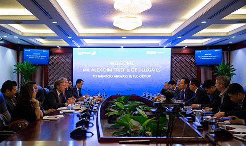 Buổi làm việc giữa GE và Tập đoàn FLC, Bamboo Airways hồi giữa tháng 9 vừa qua
