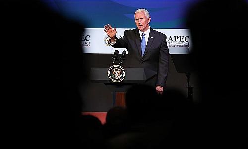 Phó tổng thống Mỹ - Mike Pence. Ảnh: Bloomberg