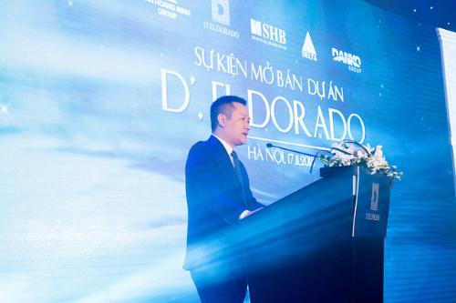 Đại diện Chủ đầu tư Tân Hoàng Minh phát biểu tại buổi lễ