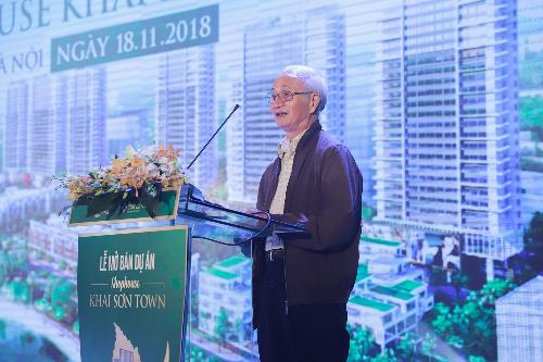 TS. Đào Ngọc Nghiêm chia sẻ tại sự kiện mở bán shophouse Khai Sơn Town ngày 18/11/2018.