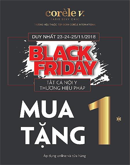 Chương trình Black Friday sẽ áp dụng cho toàn bộ sản phẩm tại các cửa hàng Corèle V.