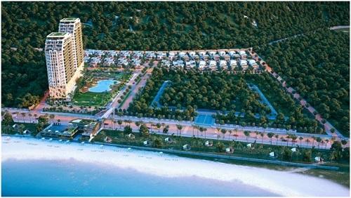 Phối cảnh không gian xanh tại The Long Hai Resort.