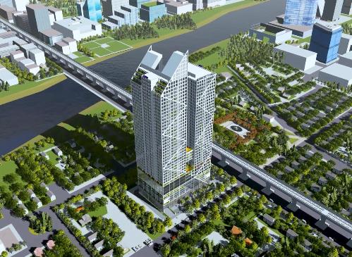 Hình phối cảnh hai tòa tháp Hatay Millenium với các mặt tràn kính hiện đại. Thông tin chi tiết liên hệ Hotline: 0901553773