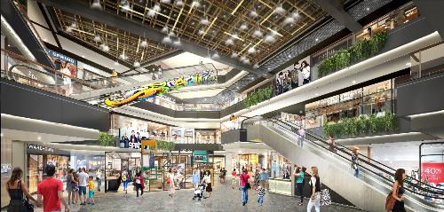 Alpha Mall -một trung tâm mua sắm và giải trí hiện đại ngay trong lòng khu phức hợp Alpha City.
