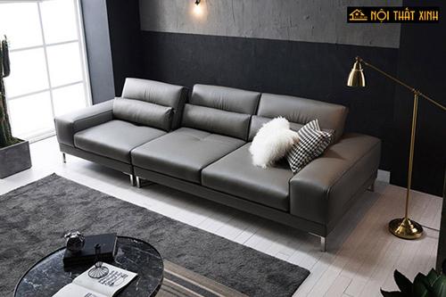 Sofa da cao cấp dành cho phòng khách nhỏ gọn được nhiều khách hàng ưa chuộng.