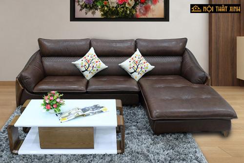 Hình ảnh mẫu ghế sofa da thật sang trọng, tinh tế thường sử dụng dòng da bò Italy với độ bền và giá trị sử dụng tốt.
