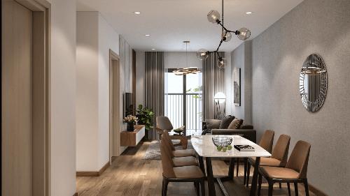 Các căn hộ dự án có thiết kế hiện đại, luôn tràn ngập ánh sáng tự nhiên.