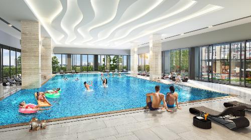 Phối cảnh minh họa bể bơi dự án Rivera Park Hà Nội.