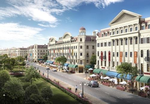 Phối cảnh Sun Plaza Grand World - Shophouse Europe.