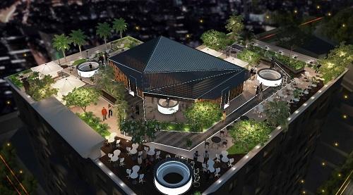 Sky Bar độc đáo, tầm nhìn toàn thành phố tại dự án. Thông tin dự án liên hệ Hotline: 0919.36.2332, Website: http://sunriseproperty.com.vn/chung-cu-saigontel-central-park-vi-the-dia-linh-khoi-sinh-nhan-kiet/
