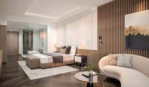 Nội thất phòng ngủ thiết kế tinh tế và đẳng cấp.