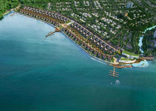 Phối cảnh dự án đất nền biệt thự biển Hà Tiên Venice Villas. Hotline:0908998548.