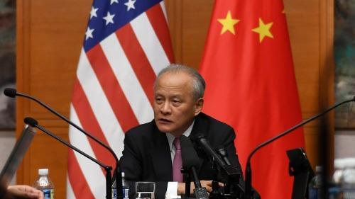 Đại sứ Trung Quốc tại Mỹ - Cui Tiankai. Ảnh: Xinhua