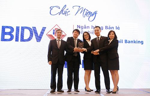 BIDV đạt giải Ngân hàng bán lẻ tiêu biểu nhất 3 năm liên tiếp