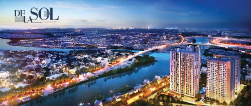 Hình phối cảnh dự án De La Sol - một dự án căn hộ cao cấp nhắm đến gia đình hiện đại.