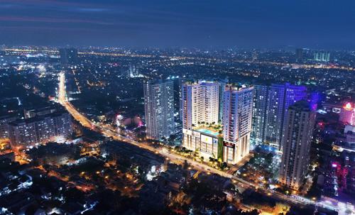 Phối cảnh dự án Central Premium Mall trên trục đường Tạ Quang Bửu, quận 8, TP HCM.