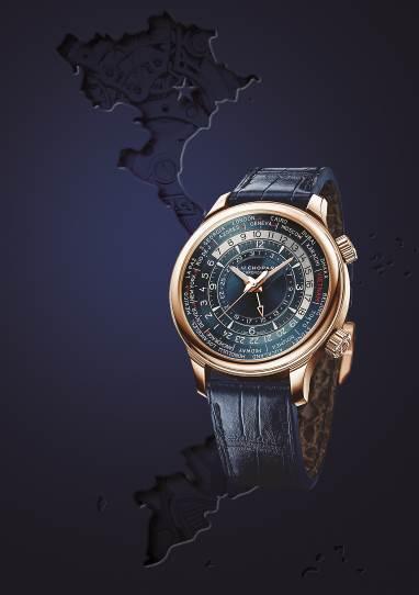L.U.C Time Traveler One có cơ chế xem giờ đồng thời ở 24 múi giờ trên thế giới.