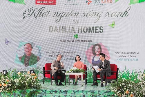 Ông Trương Văn Quảng - Phó tổng thư ký Hội quy hoạch phát triển đô thị Việt Nam chia sẻ trong chương trình Khơi nguồn sống xanh tại Dahlia Homes.