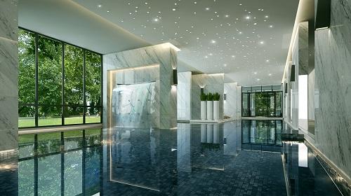 Bể bơi trong nhà đáp ứng nhu cầu bơi lội, rèn luyện sức khoẻ của cư dân trong thời tiết lạnh giá.