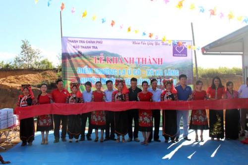 Tân Á Đại Thành tặng 5 bồn nước cho trường mầm non ở Lai Châu - 1