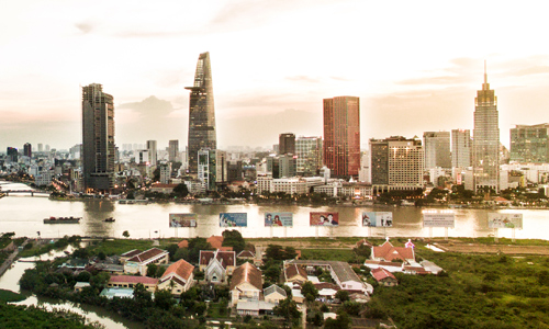 Văn phòng cho thuê khu trung tâm TP HCM. Ảnh: Lucas Nguyễn