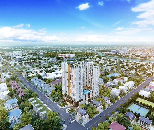 Toàn cảnh không gian xanh và hiện đại của dự án Asiana Capella.