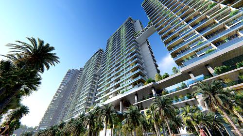 Sunshine Crystal River là dự án đầu tiên mở màncho bộ sưu tập biệt thự trên caoSunshine Sky Villas.