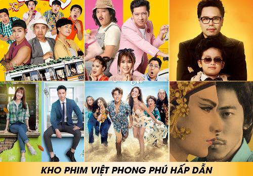 Nhiều bộ phim chiếu rạp Việt được phát hành độc quyền tại Clip TV.
