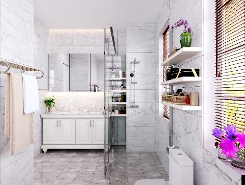 Phòng tắm được thiết kế sang trọng lịch lãm cho những chủ nhân tinh tế. Ảnh minh họa