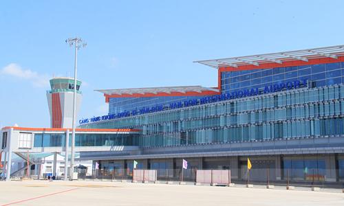 Thiết kế mặt trước sân bay Vân Đồn được lấy từ ý tưởng hình ảnh cánh buồm trên vịnh Hạ Long.