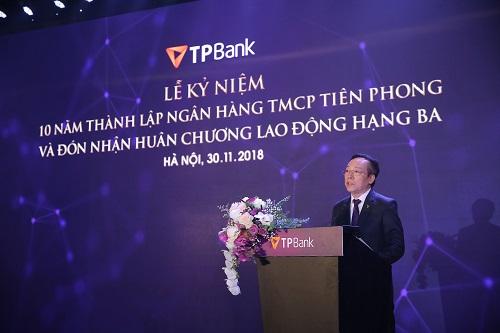 Chủ tịch HĐQT TPBank - Ông Đỗ Minh Phú phát biểu khai mạc tại buổi lễ.