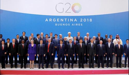 Lãnh đạo các nước chụp ảnhtại Hội nghị Thượng đỉnh G20 ở Buenos Aires, Argentina. Ảnh: Reuters.