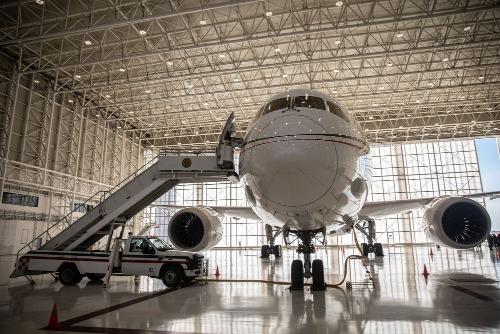 Chuyên cơ TP-01 Boeing 787-8 Dreamliner của Mexico. Ảnh: Bloomberg