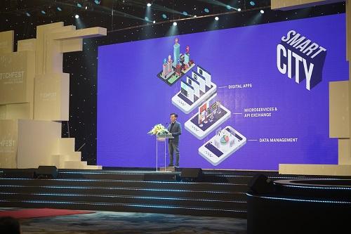 Đại diện Ami phát biểu tại Lễ khai mạc TechFest 2018.