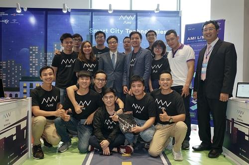 Đội ngũ Ami tham dự TechFest 2018.