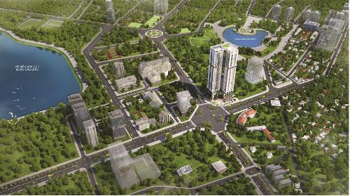 Phối cảnh tổng quan dự án Golden Park Tower.