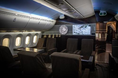 Nội thất bên trong chiếc chuyên cơ TP-01 Boeing 787-8 Dreamliner của Mexico. Ảnh: Bloomberg